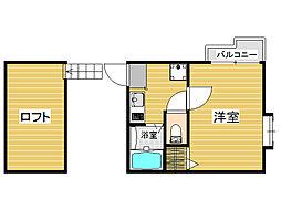 福岡県福岡市城南区鳥飼5丁目の賃貸アパートの間取り