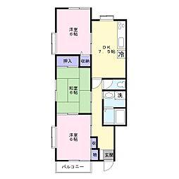 レイハウス[2階]の間取り