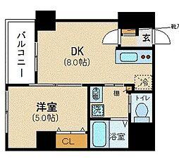 LIVEMAX HARVEST 8階1LDKの間取り