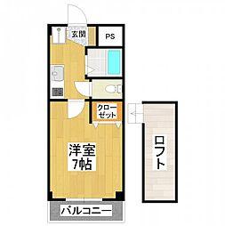 大阪府堺市東区引野町3丁の賃貸マンションの間取り