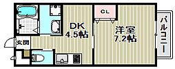 アネックスNANIWA[1階]の間取り