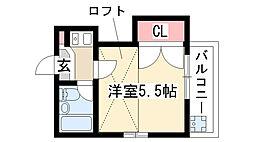 愛知県名古屋市天白区一つ山5丁目の賃貸アパートの間取り