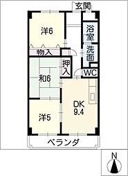 Rapport桜台[2階]の間取り