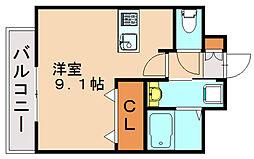 エンクレストベイ天神東Ⅲ[10階]の間取り