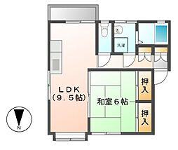 千代ハイツ[2階]の間取り