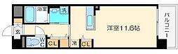 ルミナス上新庄[4階]の間取り