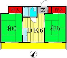 第一スカイハイツ[4階]の間取り