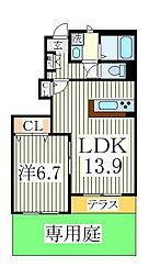クロシェットA[1階]の間取り