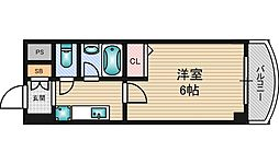 ローズコーポ西中島[8階]の間取り