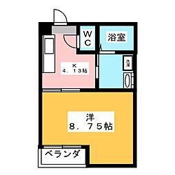 タイディン高崎[1階]の間取り