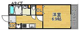 メゾン聖天坂[2階]の間取り