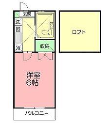 天神ドミール21[102号室]の間取り