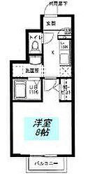 ユニベール神戸[105号室]の間取り