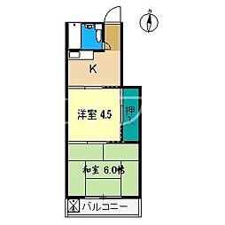 藤本マンション(高須新町)[2階]の間取り
