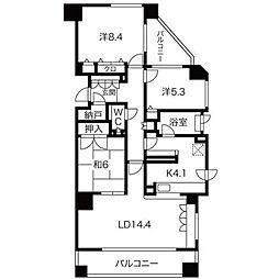 北海道札幌市中央区北一条西27丁目の賃貸マンションの間取り