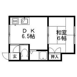 メゾンドルフレ[1階]の間取り