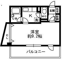 メモアール石神井公園[101号室]の間取り