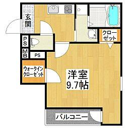大阪府堺市東区日置荘西町4丁の賃貸アパートの間取り