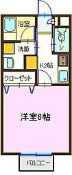 ルミナス祇園I[203号室]の間取り