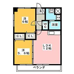 G M O[2階]の間取り