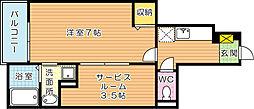 メゾンドエスポワール B棟[1階]の間取り