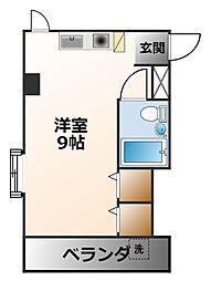 ベルフィーユNARUO[5階]の間取り