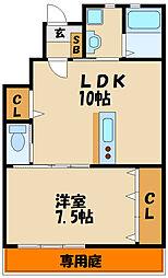 ステージ和坂II 1階1LDKの間取り