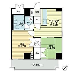ライオンズマンション大文閣[2階]の間取り
