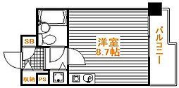東京都足立区保木間5丁目の賃貸マンションの間取り