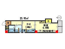 仮)西院平町新築マンション[205号室]の間取り