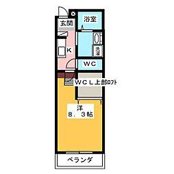 ルチェーレ宮ヶ崎[3階]の間取り