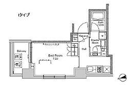東京都江東区冬木の賃貸マンションの間取り
