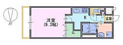 レヨマージュ長岡京[3階]の間取り