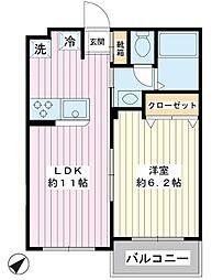 第2金子マンション[3階]の間取り