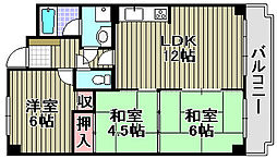 ライオンズマンション泉南樽井第[508号室]の間取り