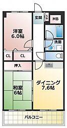 イーストヒル長田[7階]の間取り