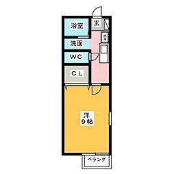 メゾンソレーユ[2階]の間取り
