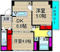 郵便局レジデンス[2階]の間取り