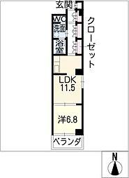 ラコンテ若葉[4階]の間取り