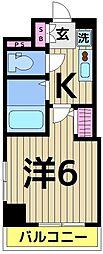 レーヴ・アデル・千住新橋[5階]の間取り