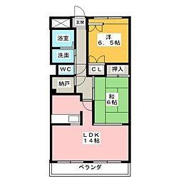 Comfort御影町[2階]の間取り