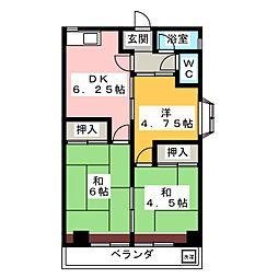 ハイネス種田[3階]の間取り