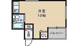 BM北堀江[6階]の間取り