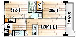ニューシティアパートメンツ南小倉I[3階]の間取り