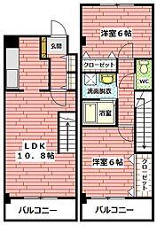 広島県広島市安佐南区中筋1丁目の賃貸マンションの間取り