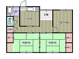 [一戸建] 愛媛県新居浜市宇高町4丁目 の賃貸【/】の間取り