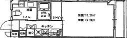 Meison de nakashima(メゾン・ド・ナカシマ)[103 203 303 403号室]の間取り