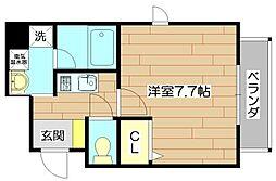 ヴェルデカーサ茨木[9階]の間取り