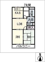 ベジタブルハイム[1階]の間取り