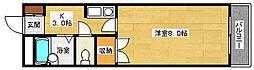 広島県広島市安佐南区西原2丁目の賃貸マンションの間取り